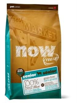 """NOW Natural Holistic - Сухой корм беззерновой """"Контроль веса"""" для собак крупных пород (с индейкой, уткой и овощами) Fresh Senior Large Breed Recipe Grain Free - фото 17347"""