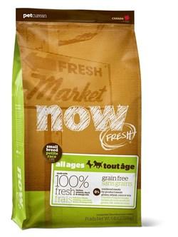 NOW Natural Holistic - Сухой корм беззерновой для малых пород всех возрастов (с индейкой, уткой и овощами) Fresh Small Breed Recipe Grain Free - фото 17381