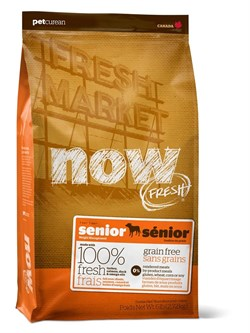 """NOW Natural Holistic - Сухой корм беззерновой """"Контроль веса"""" для собак (с индейкой, уткой и овощами) Fresh Senior Recipe Grain Free - фото 17383"""