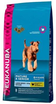 Eukanuba - Сухой корм для зрелых и пожилых собак крупных пород (курица) Dog Mature & Senior Large Breed - фото 17389
