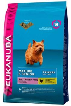 Eukanuba - Сухой корм для зрелых и пожилых собак мелких пород (курица) Dog Mature & Senior Small Breed - фото 17433