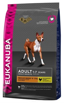 Eukanuba - Сухой корм для взрослых собак средних пород (курица) Dog Adult Medium Breed - фото 17446