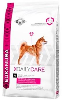 Eukanuba - Сухой корм для собак с чувствительным пищеварением (курица с рисом) Daily Care Adult Dog Sensitive Digestion - фото 17459
