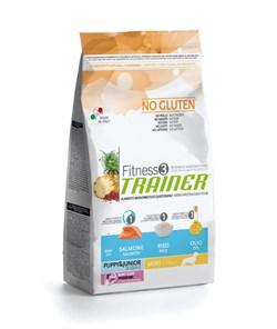 Trainer - Сухой корм для щенков и юниоров мелких пород (с лососем и рисом) Fitness No Gluten Mini Puppy&Junior Salmon and Rice - фото 17571