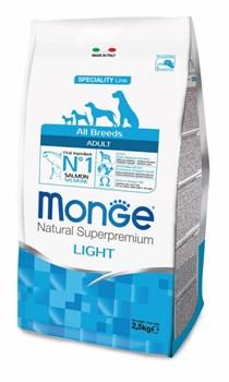 Monge - Сухой корм для собак всех пород низкокалорийный (лосось с рисом) Dog Speciality Light - фото 17616