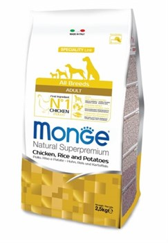 Monge - Сухой корм для собак всех пород курица с рисом и картофелем Dog Speciality - фото 17620
