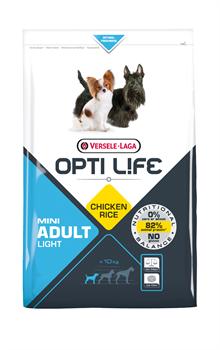 Opti Life (Versele-Laga) - Сухой корм для собак малых пород, контроль веса (с курицей и рисом) Adult Light Mini - фото 17724
