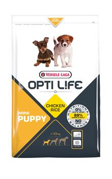 Opti Life (Versele-Laga) - Сухой корм для щенков малых пород (с курицей) Puppy Mini - фото 17727