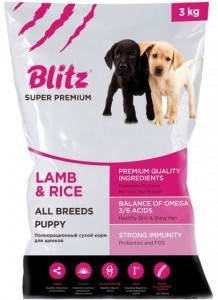 Blitz - Сухой корм для щенков всех пород (с ягнёнком и рисом) Puppy Lamb & Rice - фото 17780