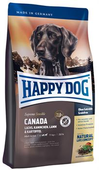 Happy Dog - Сухой корм для взрослых собак (с лососем, кроликом и ягненком) Supreme Canada - фото 17806