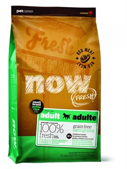 NOW Natural Holistic - Сухой корм беззерновой для взрослых собак малых пород (с ягненком, свининой и овощами) Fresh Small Breed Recipe Red Meat Grain Free - фото 17834