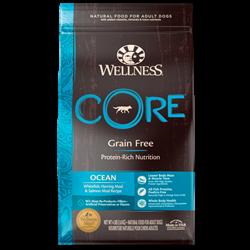 Wellness Core - Сухой беззерновой корм для взрослых собак (с лососем и тунцом) Ocean - фото 17966