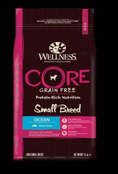 Wellness Core - Сухой беззерновой корм для собак мелких пород (с лососем) Small Breed Ocean - фото 17971