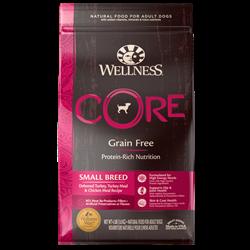 Wellness Core - Сухой беззерновой корм для собак мелких пород (с индейкой) Small Breed Original - фото 17972