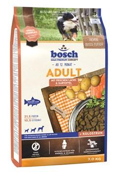 Bosch - Сухой корм для взрослых собак (с лососем и картофелем) Adult - фото 18125
