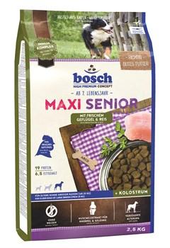 Bosch - Сухой корм для пожилых собак крупных пород (с птицей и рисом) Maxi Senior - фото 18137