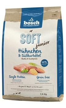 Bosch - Полнорационный корм для щенков (с курицей и бататом) Soft Junior - фото 18148