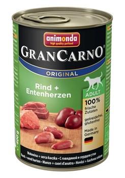 Animonda - Консервы для взрослых собак (с говядиной и сердцем утки) GranCarno Original Adult - фото 18380