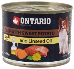 Ontario - Консервы для собак малых пород (с телятиной и бататом) Mini Calf With Sweet Potato, Dandelion and Linseed oil - фото 18477