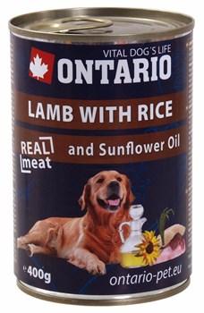 Ontario - Консервы для собак (с ягненком и рисом) Lamb With Rice, Sunflower Oil - фото 18479