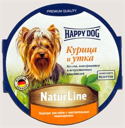 Happy Dog - Паштет для собак (с курицей и уткой) - фото 18570