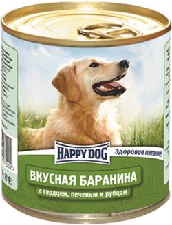 Happy Dog - Консервы для собак (с бараниной, сердцем, печенью и рубцом) - фото 18574