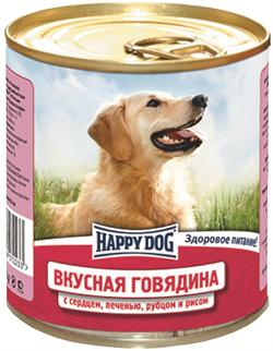 Happy Dog - Консервы для собак (с говядиной, сердцем, печенью, рубцом и рисом) - фото 18577
