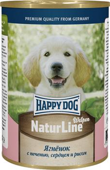 Happy Dog - Консервы для щенков и юниоров (с ягненком, печенью, сердцем и рисом) - фото 18578