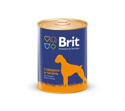 Brit - Консервы для собак (с говядиной и печенью) Premium RED MEAT&LIVER - фото 18652