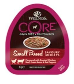 Wellness Core - Консервы для собак мелких пород (попурри из курицы, говядины с зеленой фасолью и красным перцем) - фото 18660