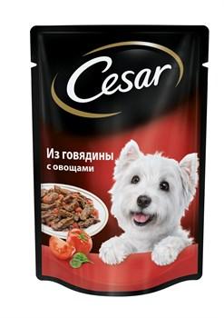 Cesar - Паучи для собак (из говядины с овощами) - фото 18733