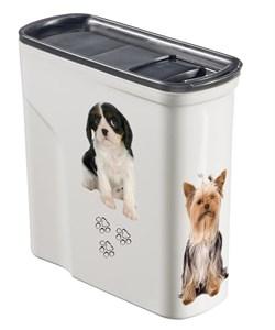 """Curver PetLife - Контейнер для корма """"Собачье счастье"""" малый на 2 л, 20*9*19 см - фото 18758"""