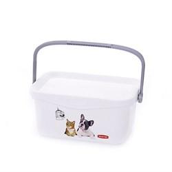 """Curver PetLife - Мультифункциональный контейнер """"Домашние любимцы"""" малый, на 3 л, 26*18*11см - фото 18763"""