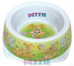 Dezzie - Миска для собак, 500 мл, 17,5*17,5*5,5 см, пластик - фото 18783