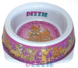 Dezzie - Миска для собак, 500 мл, 17,5*5,5 см, пластик - фото 18794