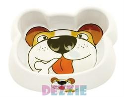 Dezzie - Миска для собак, 300 мл, 16,5*14*4 см, пластик - фото 18801