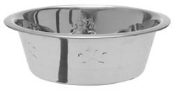 "Dezzie - Миска для собак ""Лапа"", 2838 мл 25*10 см, металл - фото 18812"