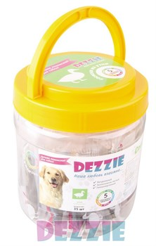 Dezzie - Лакомство для собак (сосиски из утки) в банке 35 штук - фото 18909