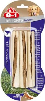 8in1 - Палочки с говядиной для мелких и средних пород 13 смх3 шт. Delights Beef - фото 18910