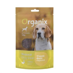 "Organix - Лакомство для собак ""Нарезка утиного филе"" (100% мясо) Duck fillet/ shredding - фото 18916"