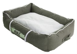 Rogz - Лежак с бортиком и двусторонней подушкой, оливковый/кремовый, большой (88x55x26 см) LOUNGE POD LARGE - фото 19160