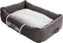 Rogz - Лежак с бортиком и двусторонней подушкой, серый/кремовый, большой (88x55x26 см) LOUNGE POD LARGE - фото 19165
