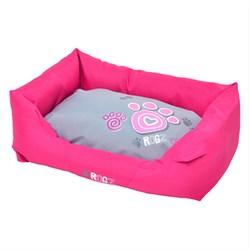 """Rogz - Лежак с бортиком и двусторонней подушкой """"Розовая лапка"""", малый (56x35x22 см) SPICE WALL BED SMALL - фото 19175"""