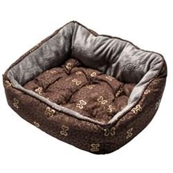 """Rogz - Мягкий лежак с двусторонней подушкой """"Коричневые косточки"""", размер M (56х43х29см) TRENDY PODZ - фото 19201"""
