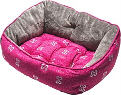 """Rogz - Мягкий лежак с двусторонней подушкой """"Розовые косточки"""", размер S (52х38х25см) TRENDY PODZ - фото 19208"""