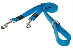 Rogz - Поводок-перестежка, голубой (размер XL - ширина 2,5 см, длина 1-1,3-1,6 м) UTILITY MULTI PURPOSE LEAD - фото 19586