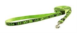"""Rogz - Поводок """"Лаймовый сок"""" (размер L - ширина 2 см, длина 1,4 м) FANCY DRESS FIXED LEAD - фото 19628"""