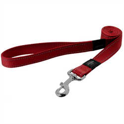 Rogz - Поводок, красный (размер M - ширина 1,6 см, длина 1,4 м) UTILITY FIXED LEAD - фото 19651