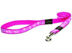 "Rogz - Поводок ""Розовая лапка"" (размер XXL - ширина 4 см, длина 0,5 м) FANCY DRESS FIXED LEAD - фото 19663"