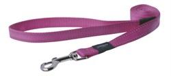 Rogz - Поводок, розовый (размер M - ширина 1,6 см, длина 1,4 м) UTILITY FIXED LEAD - фото 19666